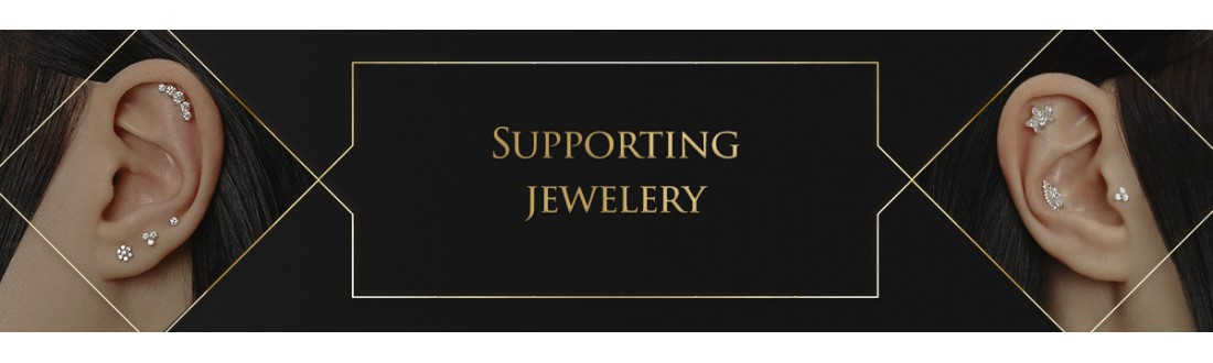 Supporting jewelry